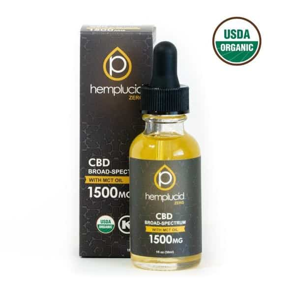USDA Organic Broad Spectrum CBD Oil 1500mg by Hemplucid