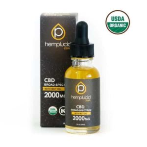 USDA Organic Broad Spectrum CBD Oil 2000mg by Hemplucid