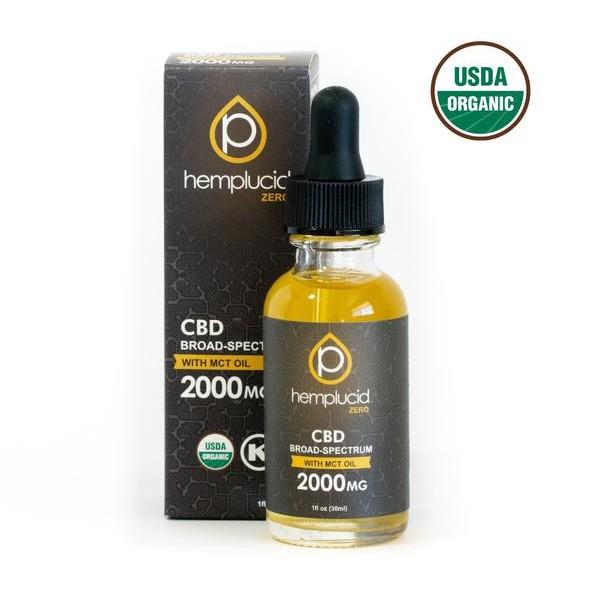 USDA Organic Broad Spectrum CBD Oil 2000mg by Hemplucid