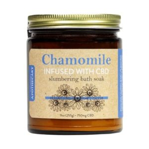 Chamomile Slumbering CBD Bath Soak - Photo of Front