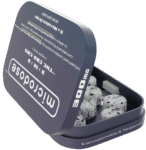 Microdose CBD Drops Hard Candies - CBD - THC - CBG Photo of Open Tin