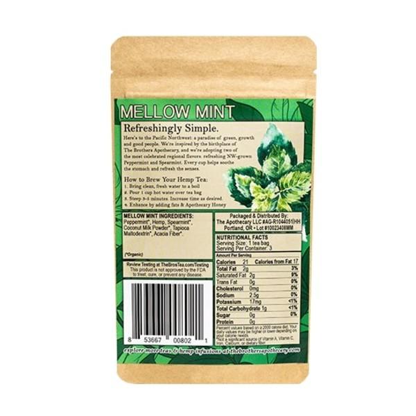 Organic Mellow Mint CBD Tea - Herbal Tea 3 Pack Photo of Back