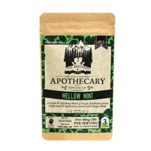 Organic Mellow Mint CBD Tea - Herbal Tea 3 Pack Photo of Front