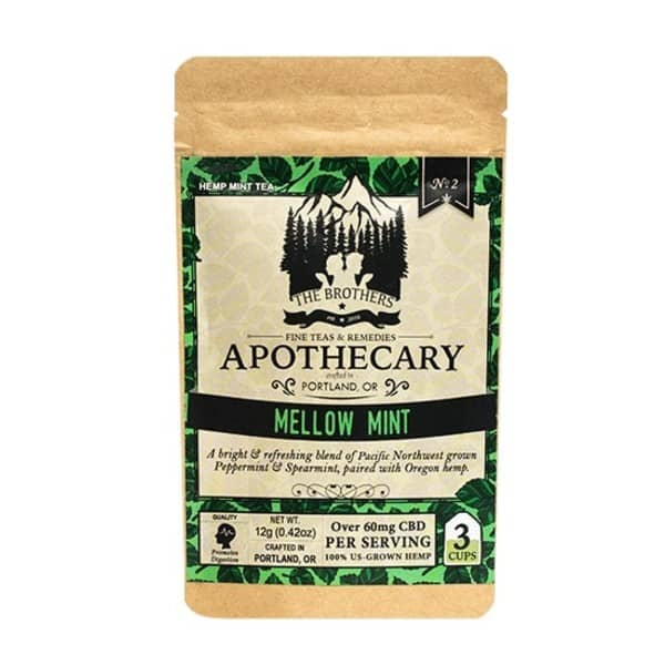 Organic Mellow Mint CBD Tea - Herbal Tea 3 Pack Photo of Front