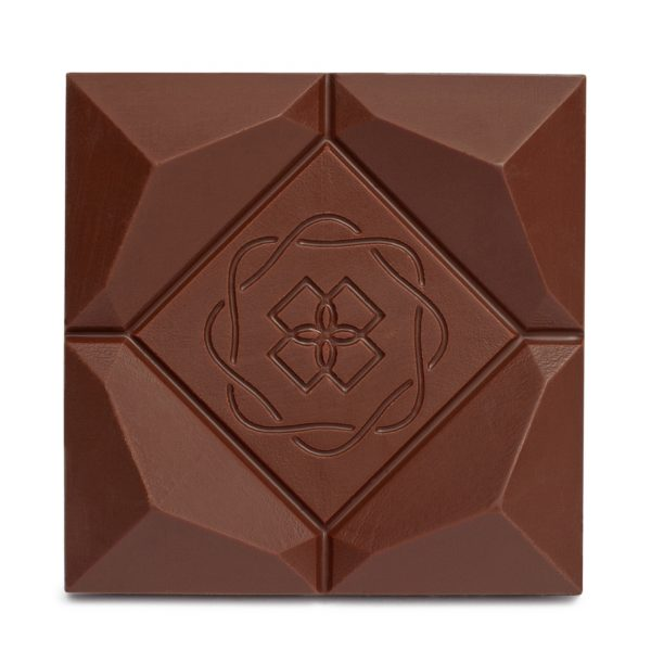 Organic Couverture CBD Swiss Milk Chocolate Bar Closeup