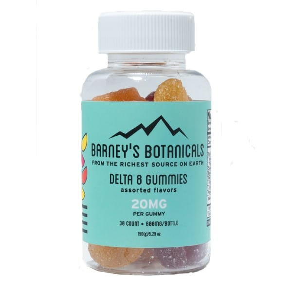Delta 8 Gummies 20mg-30ct by Barney's Botanicals