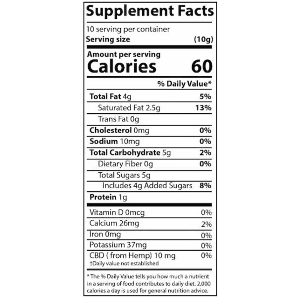 Difiori Organic Couverture CBD Decadent Swiss Coconut Dark Chocolate - Supplement Facts