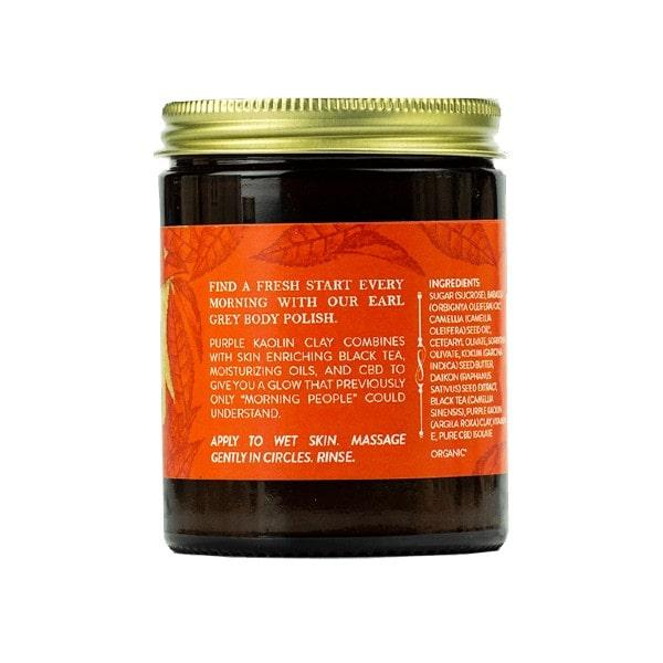 Energizing CBD Sugar Scrub - Earl Grey, Kaolin & Sugar _Side 1