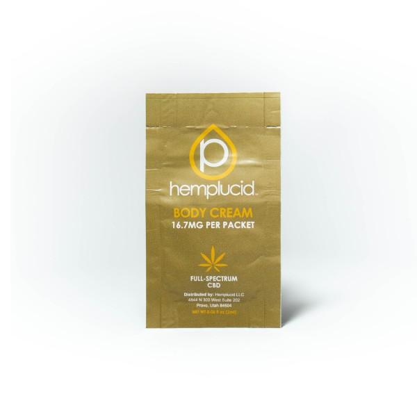 Hemplucid CBD Body Cream Sample Packet