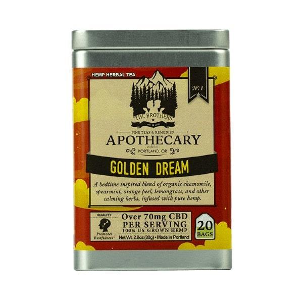 Organic Calming Chamomile CBD Tea - Golden Dream - 20 Pack Tin