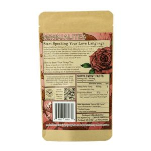 Sensualitea CBD Tea - Organic Hemp Tea - Back of 3 Pack Bag