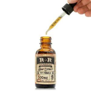 USDA Organic Pet CBD Oil Tincture - Full Spectrum - Open Tincture with Dropper Full
