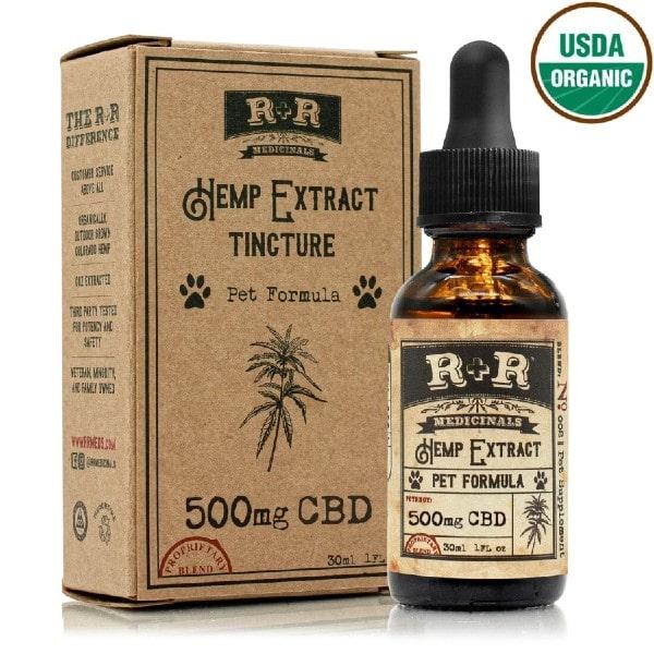 USDA Organic Pet CBD Oil Tincture - Full Spectrum