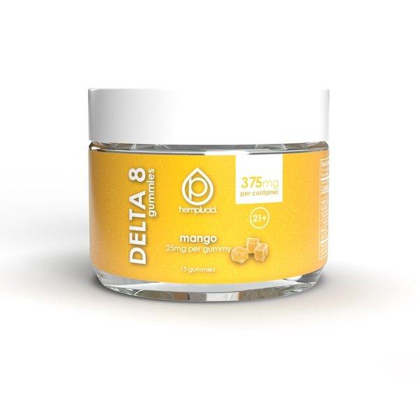 Hemplucid Vegan Delta 8 Gummies - 25mg Mango