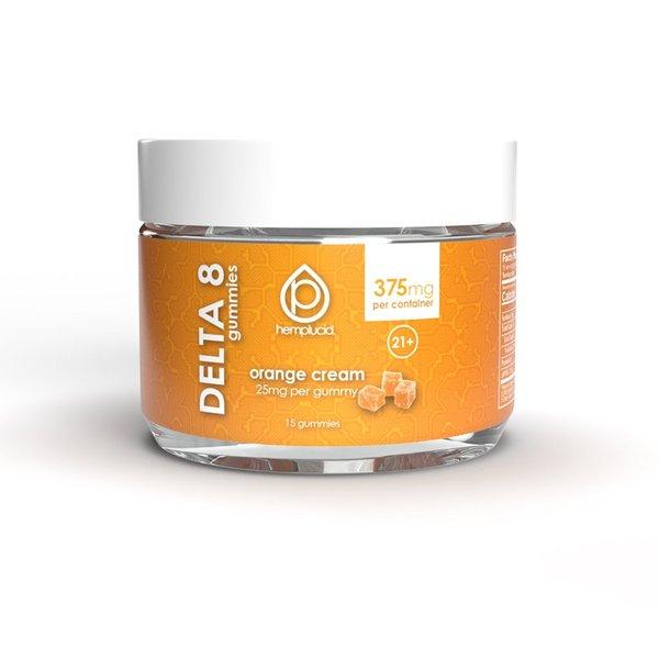 Hemplucid Vegan Delta 8 Gummies - 25mg Orange Cream