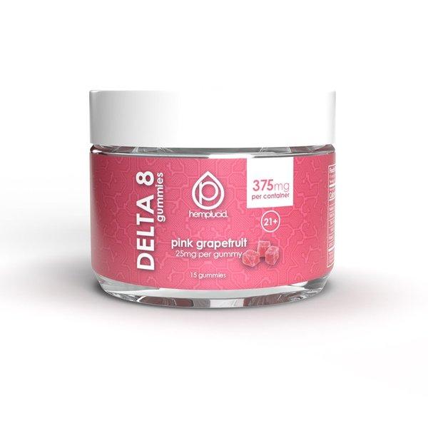 Hemplucid Vegan Delta 8 Gummies - 25mg Pink Grapefruit