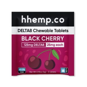 HH Delta 8 Chewables 25mg - Black Cherry 5 Pack