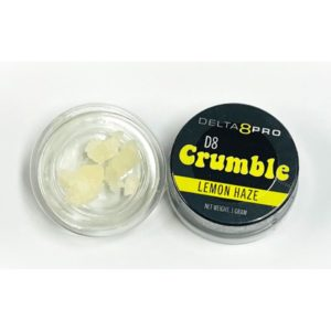 Lemon Haze Delta 8 Crumble with CBD