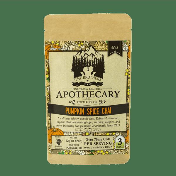 Pumpkin Spice Chai CBD Tea - Organic Hemp Tea - 3 Pack Front