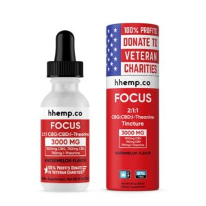 HH Focus CBD and CBG Oil Tincture with l-Theanine - Photo of Focus Tincture and Tube